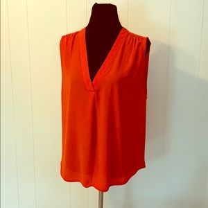 Coral Sleeveless Blouse